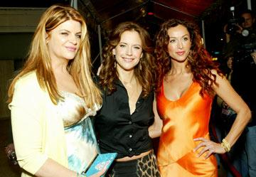 Kirstie Alley, Kelly Preston and Sofia Milos at the Los Angeles premiere of Showtime's Fat Actress - 2/23/2005
