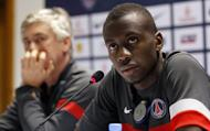 Paris Saint-Germain's midfielder Blaise Matuidi holds a joint press conference with PSG's Italian coach Carlo Ancelotti at the Aspire Academy of Sports Excellence in the Qatari capital Doha on December 29, 2012. Ancelotti has ruled out any further signings during the January transfer window, saying that the arrival of Brazilian starlet Lucas Moura would suffice