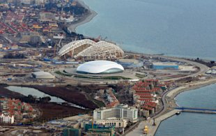 Sochi, Russia - One year to go. (AP Photo/Dmitry Lovetsky)
