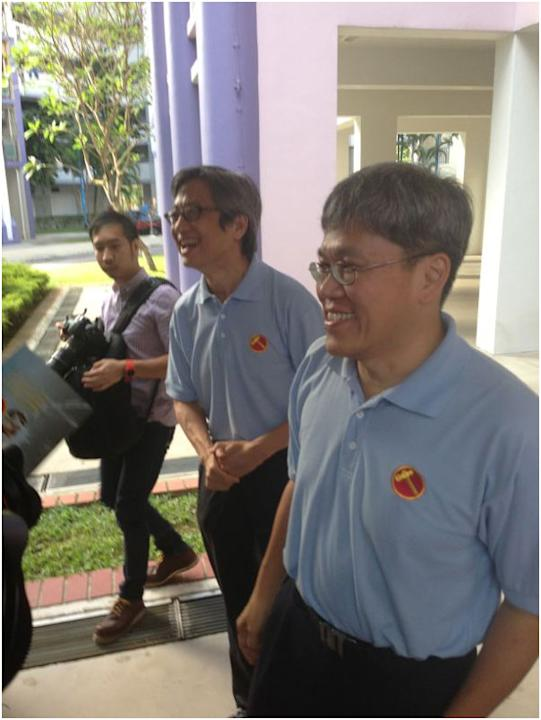 WP's MPs Chen Show Mao and Png Eng Huat were also present