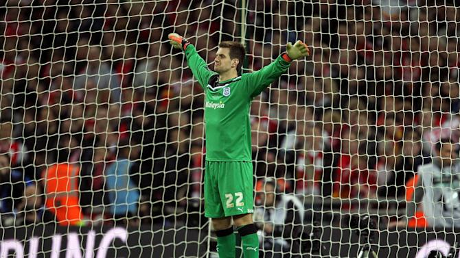Tom Heaton played for Cardiff in the Carling Cup final last year