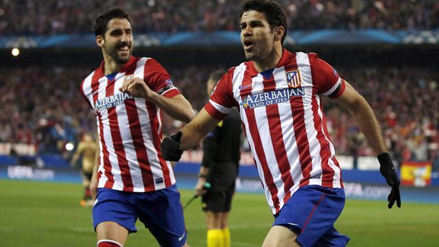 Champions League - Costa at the double as Atletico thrash Milan