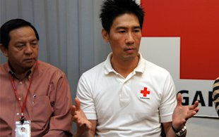 SRC ambassador Edmund Chen hopes the effort will go some way to help rebuild lives in Japan. (Yahoo! photo/Alicia Wong)