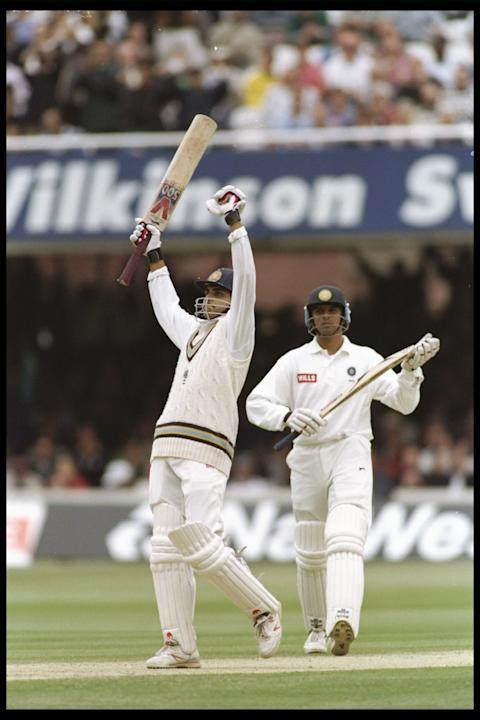 Sourav Ganguly of India a debut Hundread