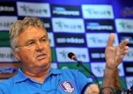 Dutch coach Guus Hiddink, seen here in July 2012, has said he is aiming to make big-spending Russian side Anzhi Makhachkala one of the teams to beat in the domestic league