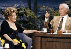 Bette Midler, Johnny Carson | Photo Credits: NBC/Getty Images