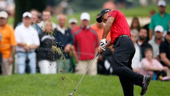 Golf - Woods pulls out of WGC-Bridgestone Invitational due to injury