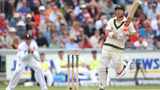 Ashes - Warner laughs off crowd jibes