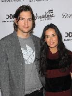 """Ashton Kutcher and Demi Moore attend the launch party for """"Real Men Don't Buy Girls"""" at Steven Alan Annex in New York City, on April 14, 2011 -- Getty Images"""