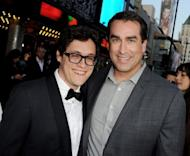 "Co-director Phil Lord (L) and actor Rob Riggle arrive at the premiere of Columbia Pictures' ""21 Jump Street"" at the Grauman's Chinese Theater on March 13, in Los Angeles. The youthful policemen of 1980s remake ""21 Jump Street"" seized the head of the North American box office this weekend, according to preliminary industry figures"