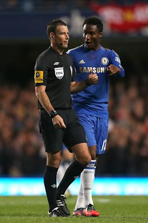 Mark Clattenburg, left, was alleged to have made a racist comments towards John Obi-Mikel, right