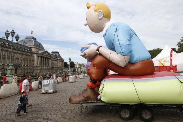 Tintin is a widely popular character, but some of the books featuring him have come under fire. (Reuters)