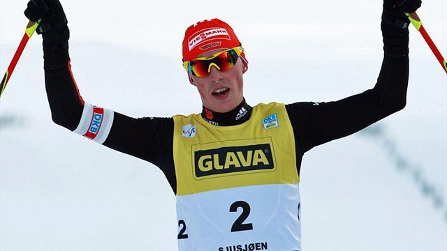 Nordic Combined - Frenzel betters Lamy Chappuis in sprint for team pride