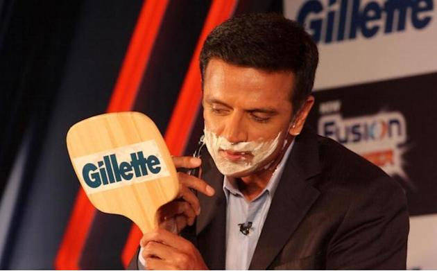 Former Indian cricket captain Rahul Dravid during the launch of Gillette`s new revolutionary shaving system in Mumbai on October 28, 2013. (Photo: IANS)