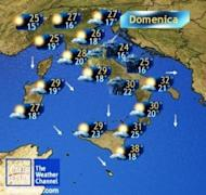 Meteo week-end: temporali e calo termico