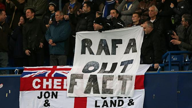 Sections of Chelsea fans held banners calling for Rafael Benitez's exit