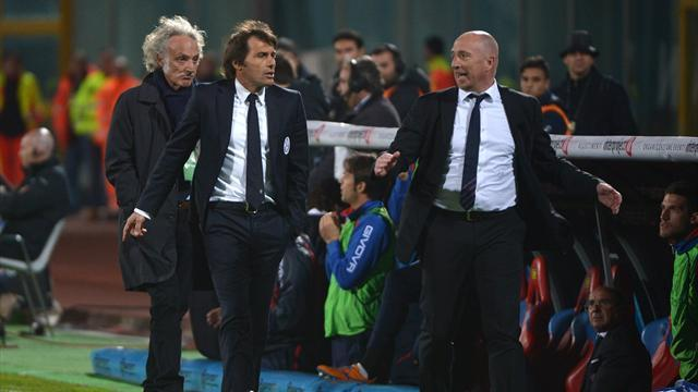 Serie A - Both coaches off as Juve win at Catania