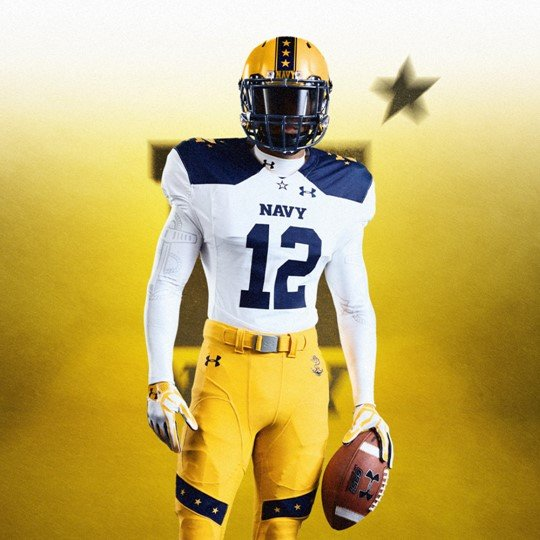Full Navy uniform for Saturday's game. (Navy Football)