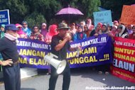 Single mums rally against Selangor gov't over allowance