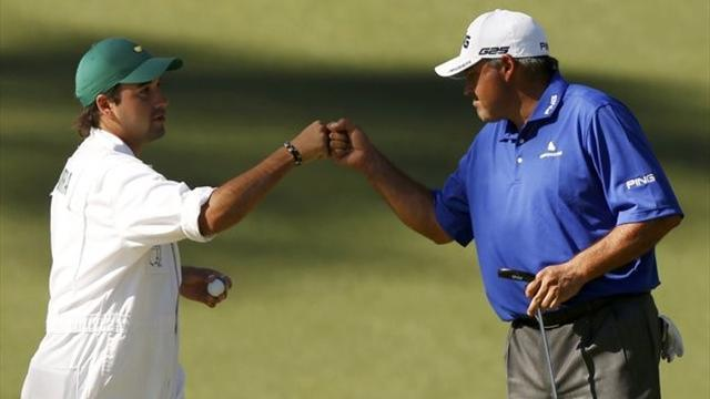 The Masters - Woods on heels of Cabrera and Snedeker at Augusta