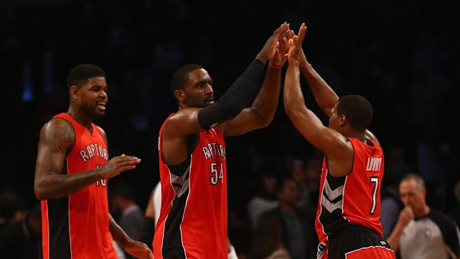 Raptors even series with Nets, win 87-79