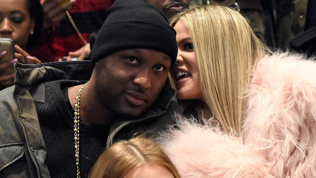 Khloe Kardashian and Lamar Odom Are Super Happy Attending Kanye West's Fashion Show Together