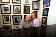 Actor Mickey Rooney and his wife Jan pose for a picture during an interview with Reuters at his home in Westlake Village, California in this February 14, 2007 file photo. REUTERS/Mario Anzuoni/Files