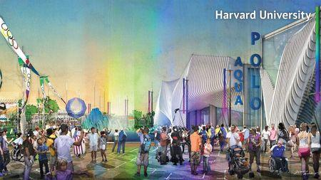 Boston2024 handout image shows a proposed water polo venue at Harvard University in Boston, Massachusetts