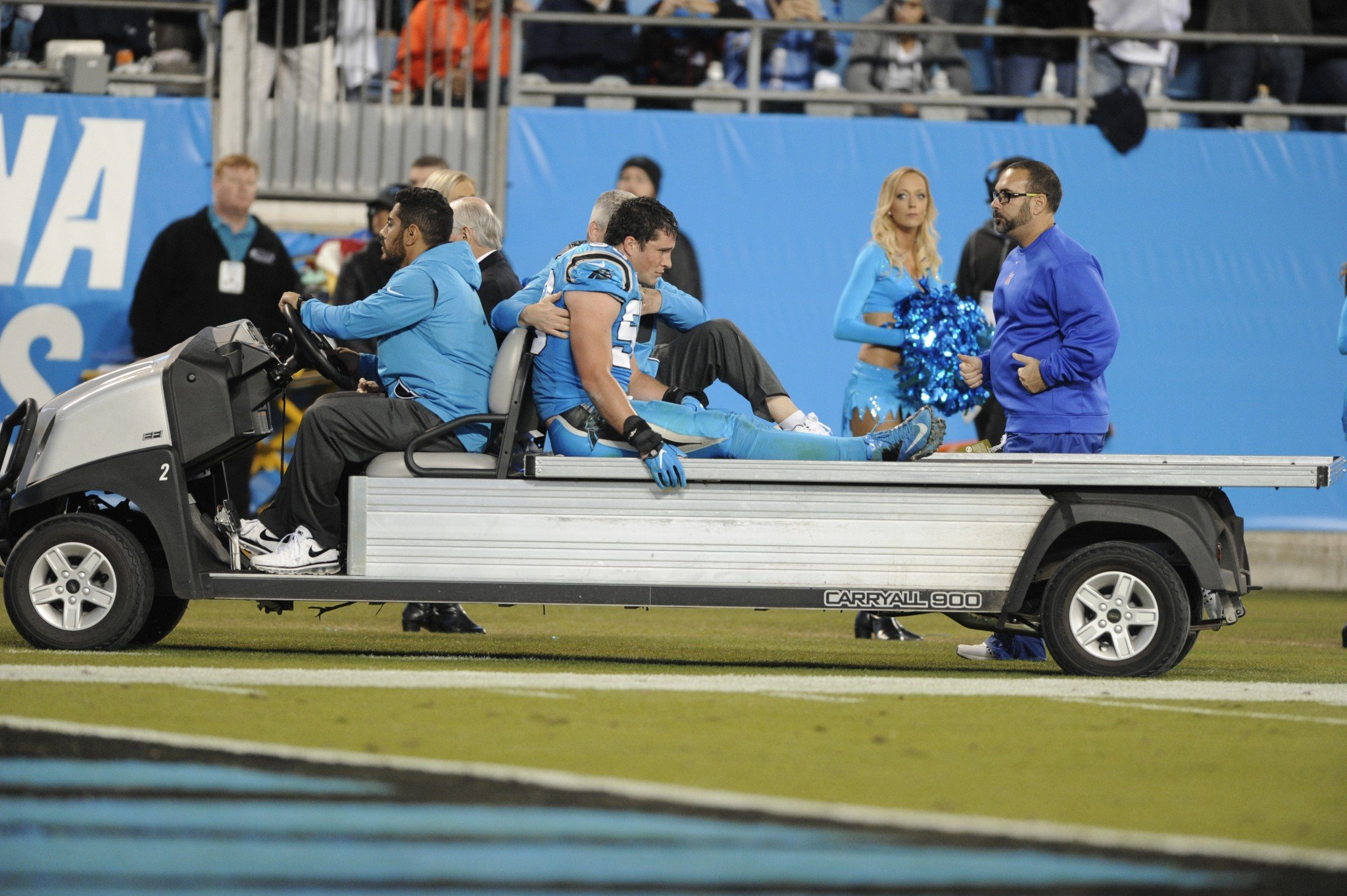 The Sports World Reacts To Luke Kuechly Crying After Suffering Possible Concussion