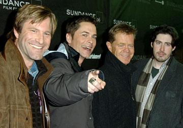 Aaron Eckhart, Rob Lowe, William H. Macy and director Jason Reitman Thank You for Smoking Premiere - 1/21/2006 2006 Sundance Film Festival