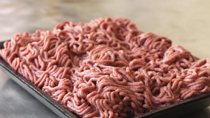 "This September 2012 photo provided by Dakota Dunes, S.D.-based meat processor Beef Products Inc., shows a sample of their lean, finely-textured beef. BPI filed a defamation lawsuit Thursday, Sept, 13, 2012 against ABC News for what it alleges was misleading reporting about a product that critics have dubbed ""pink slime."" (AP Photo/Beef Products, Inc.)"