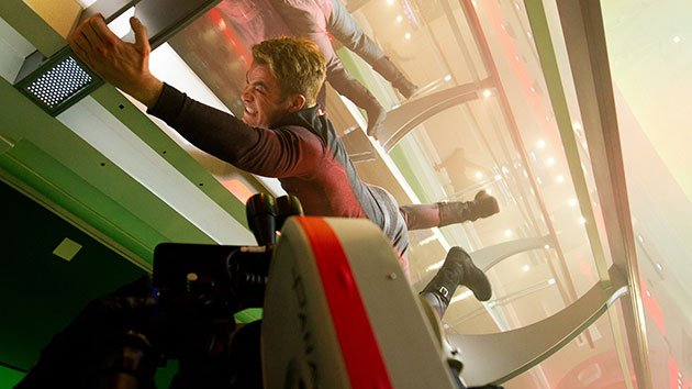 Chris Pine filming 'Star Trek Into Darkness'