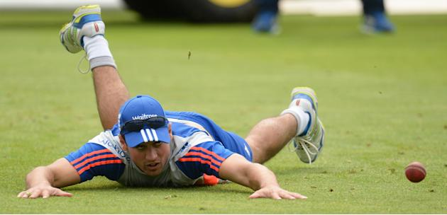 CRIC: England's Alastair Cook during a training session