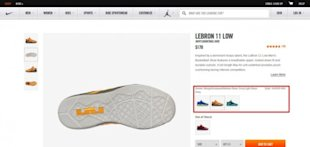 What Nike.com (and Others) Can Teach You About Building Persuasive Product Pages image Lebron 11 Low Alternative Versions 1 e1408127492294 600x285