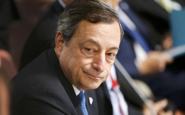European Central Bank (ECB) President Mario Draghi attends a symposium at the Palace Chapel in Dresden