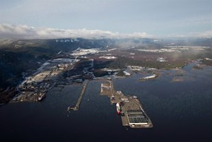 Douglas Channel, the proposed pipeline termination point in the Northern Gateway Project