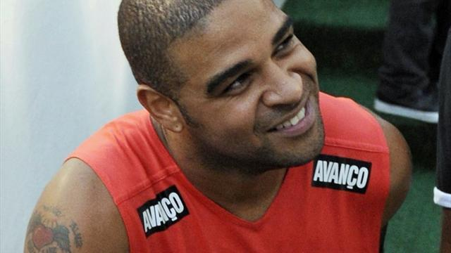 South American Football - Emotional Adriano plays first match for nearly two years