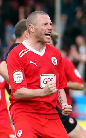 Gary Alexander scored a brace for Crawley as they beat Scunthorpe