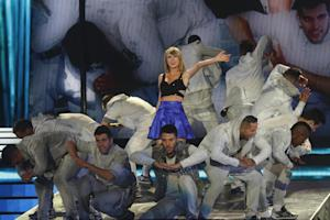 Taylor Swift performs at Rock in Rio USA at the MGM…