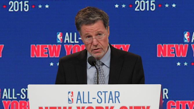 Hank J. Ratner, president and CEO ofThe Madison Square Garden Company, speaks during a press conference Wednesday Sept. 25, 2013, in New York, announcing the selection of the city to host the NBA All-Star game in 2015. The 64th NBA All-Star game is scheduled to be played at New York's Madison Square Garden Sunday Feb. 15, 2015 with Friday and Saturday night events being held at the Barclays Center in the Brooklyn borough of New York