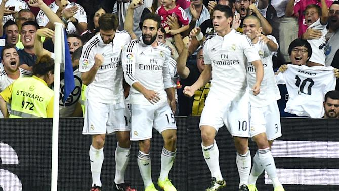 Liga - Rodriguez scores but Real held by Atletico in Super Copa