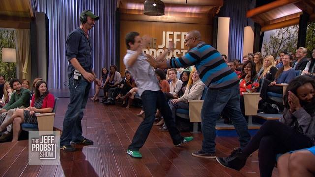 Jeff Gets Physical with Audience Member