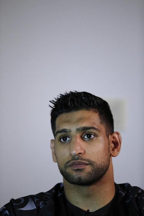 Amir Khan during the media roundtable