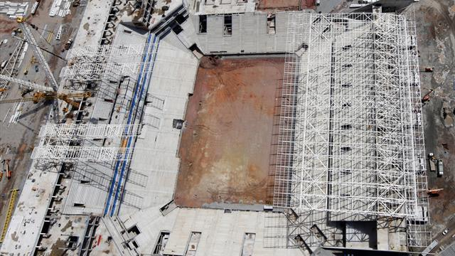 Football - Work to restart at Sao Paulo World Cup stadium