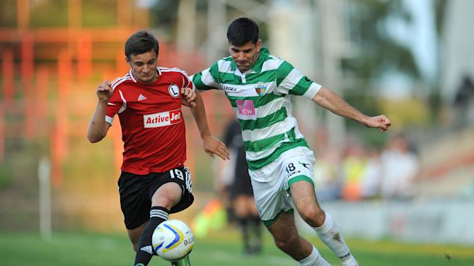 Soccer - UEFA Champions League - Second Round Qualifying - First Leg - The New Saints v Legia Warsaw - The Racecourse Ground