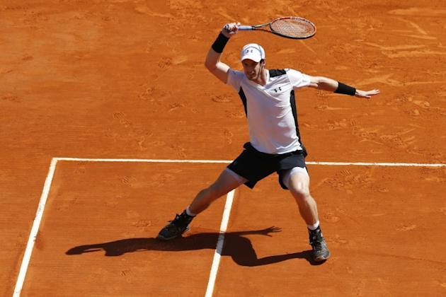 Britain's Andy Murray hits a return during the Monte-Carlo ATP Masters Series Tournament semi final tennis match, on April 16, 2016 in Monaco