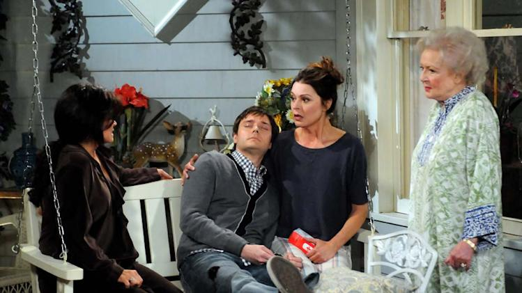 "The son that Joy gave up for adoption stops by for a surprise visit on ""Hot In Cleveland."""