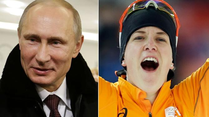 Openly Gay Medalist 'Cuddles' with Putin