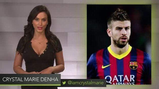 FC Barcelona Star Gerard Pique Hits Half Court NBA Shot