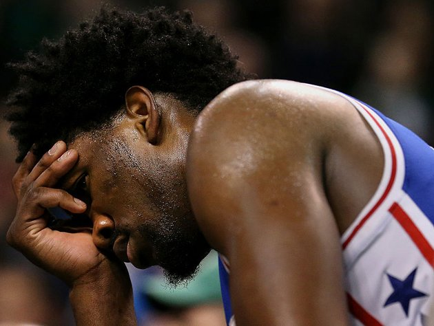 Joel Embiid turns on the radio. (Getty Images)
